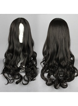 Japanese Lolita Style Black Color Cosplay Wigs 20 Inches