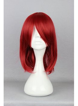 Black Butler Hairstyle Long Straight Red Cosplay Wig 14 Inches