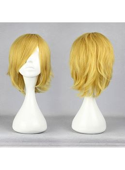 Kallen Hairstyle Short Straight Golden Cosplay Wig 12 Inches