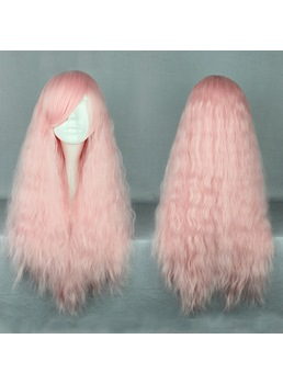 Japanese Lolita Style Light Pink Color Cosplay Wigs 28 Inches