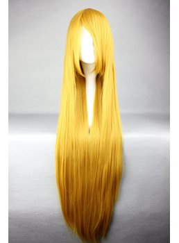 Soryu Asuka Langley Hairstyle Long Straight Golden Cosplay Wig 30 Inches