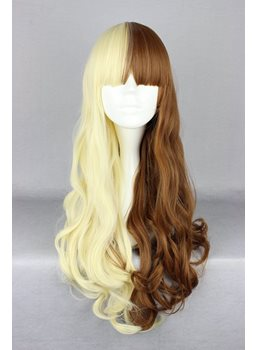 Japanese Lolita Style Mixed Color Grey and Light Yellow Cosplay Wigs 26 Inches