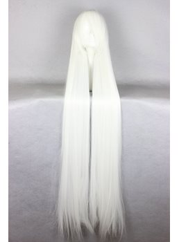 Japanese Chobits Series Long Straight White Color Cosplay Wigs 59 Inches