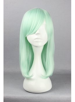 Japanese Lolita Style Middle Straight Light Green Color Cosplay Wigs 16 Inches