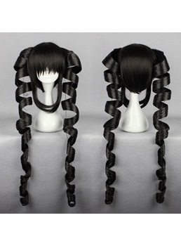 Japanese Dangan-Ronpa Series Celestiya Rodenbek Black Color Cosplay Wigs 24 Inches