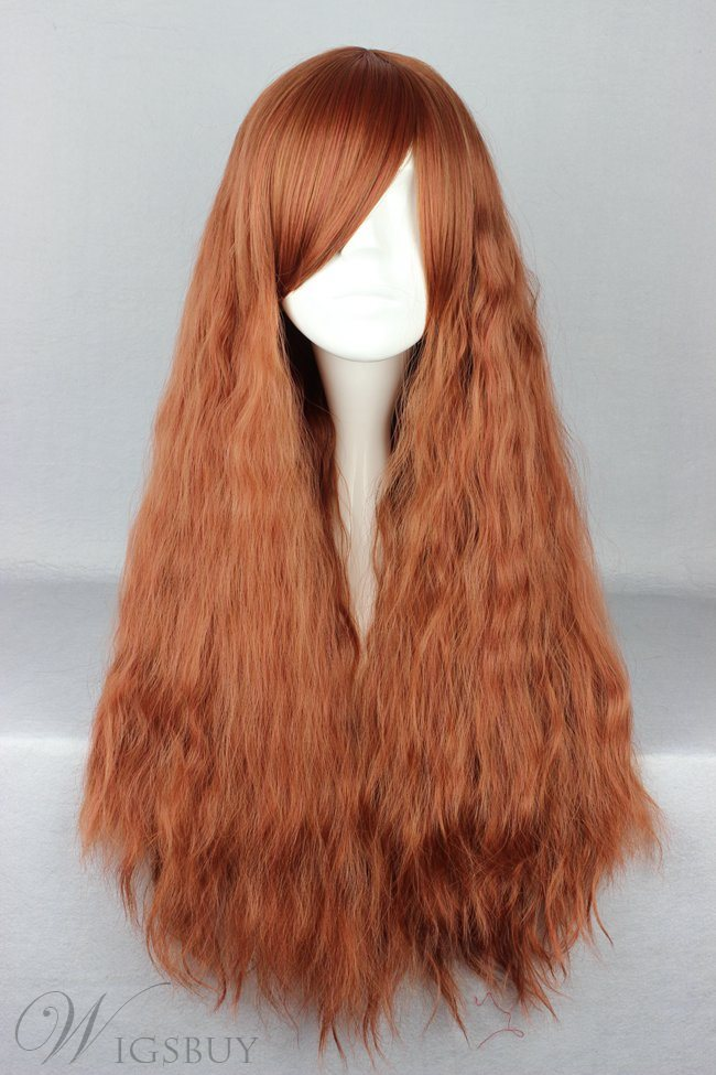 Japanese Lolita Style Chocolate Color Cosplay Wigs 28 Inches