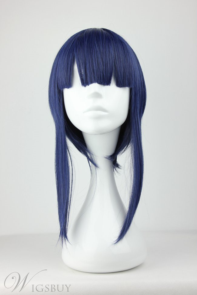 Sword Art Online Unique Blue Synthetic Hair Cosplay Wigs 18 Inches