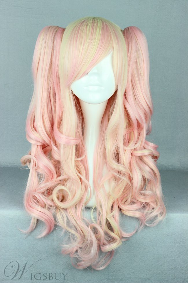 Japanese Lolita Style Mixed Color Cosplay Wigs 26 Inches