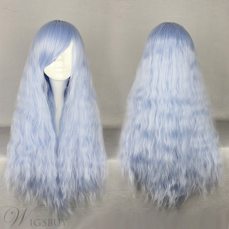 Japanese Lolita Style Ice Blue Cosplay Wigs 28 Inches