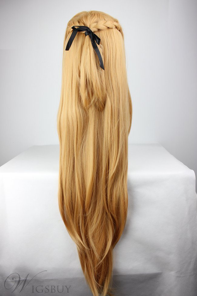 Sword Art Online Hairstyle Long Straight Synthetic Hair Cosplay Wigs 36 Inches