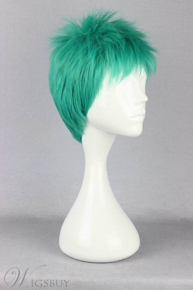 Zoro Hairstyle Short Straight Cosplay Wig 8 Inches