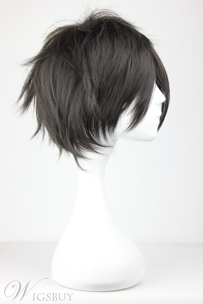 Sword Art Online Short Straight Black Synthetic Hair Cosplay Wigs