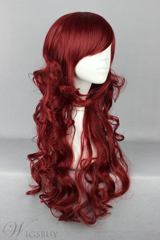 Japanese Lolita Style Dark Red Color Cosplay Wigs 26