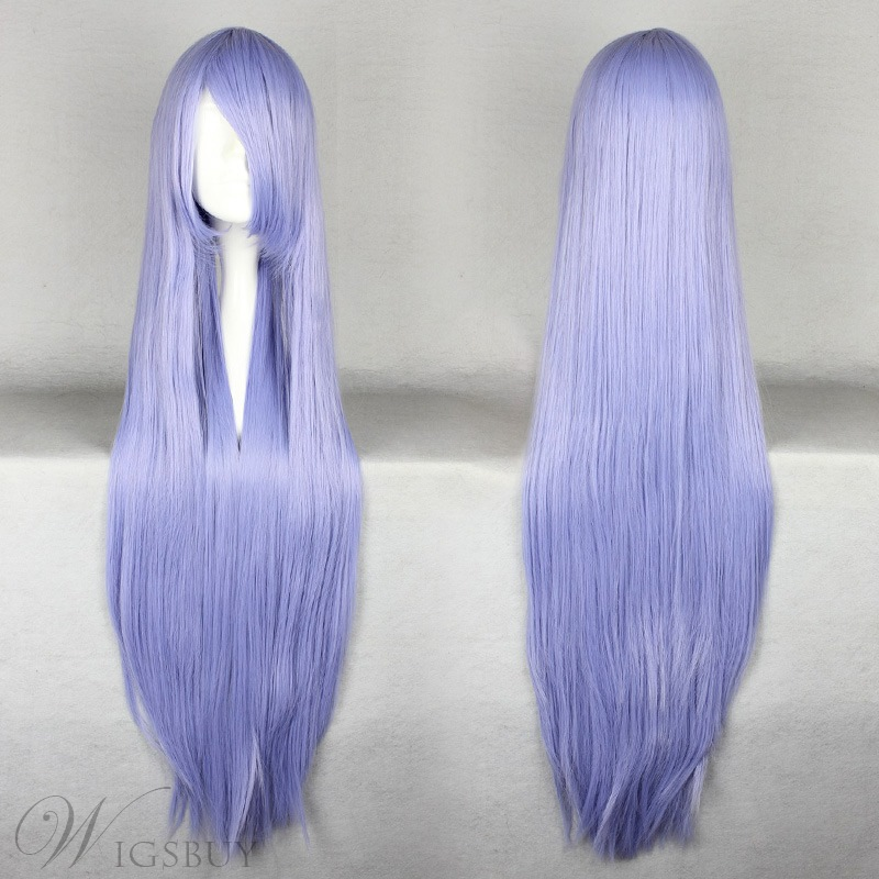 Wendy Marvell Hairstyle Long Straight Light Blue Cosplay Wig 30 Inches