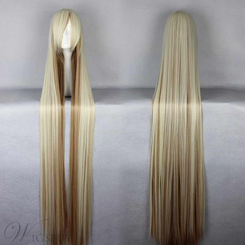 Japanese Chobits Series Eruda Style Layed Mixed Color Cosplay Wigs 59 Inches