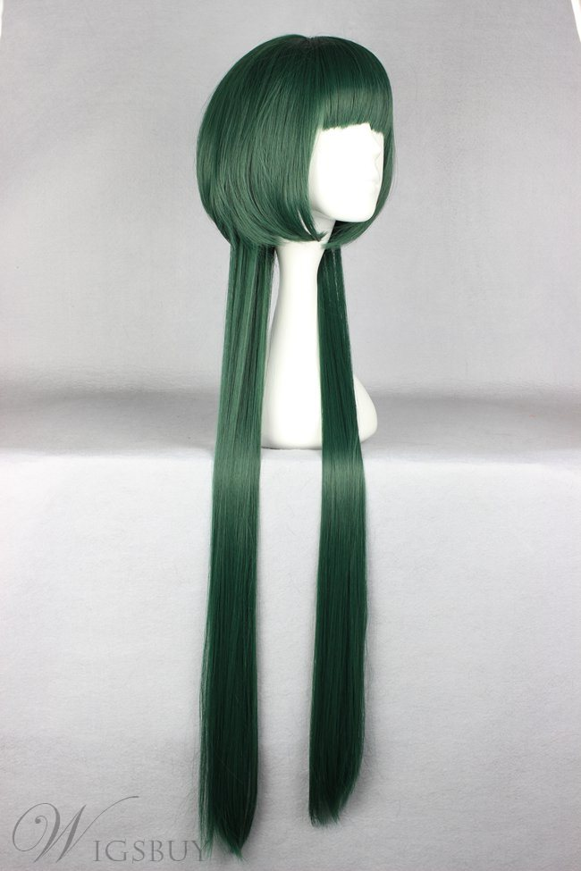 Yuni Hairstyle Long Layered Straight Deep Green Cosplay Wig 30 Inches