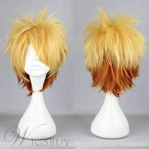 Toma Hairstyle Short Straight Gradient Cosplay Wig 12 Inches