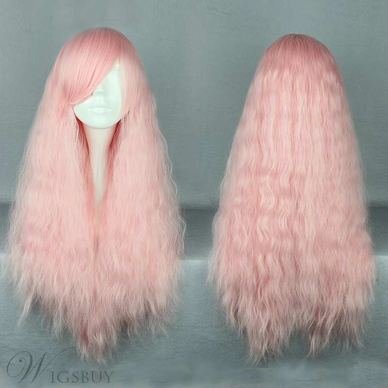 Japanese Lolita Style Light Pink Color Cosplay Wigs 28