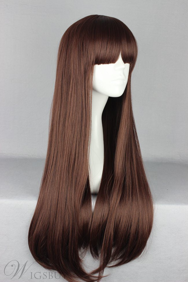 Japanese Lolita Style Long Straight Brown Color Cosplay