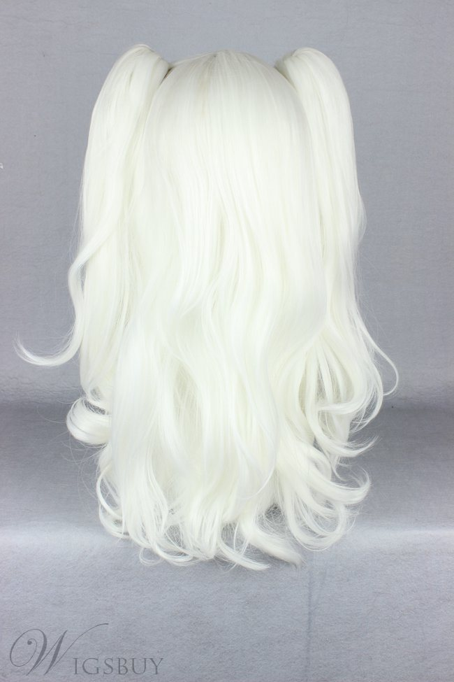 Japanese Lolita Style White Color Cosplay Wigs 20 Inches