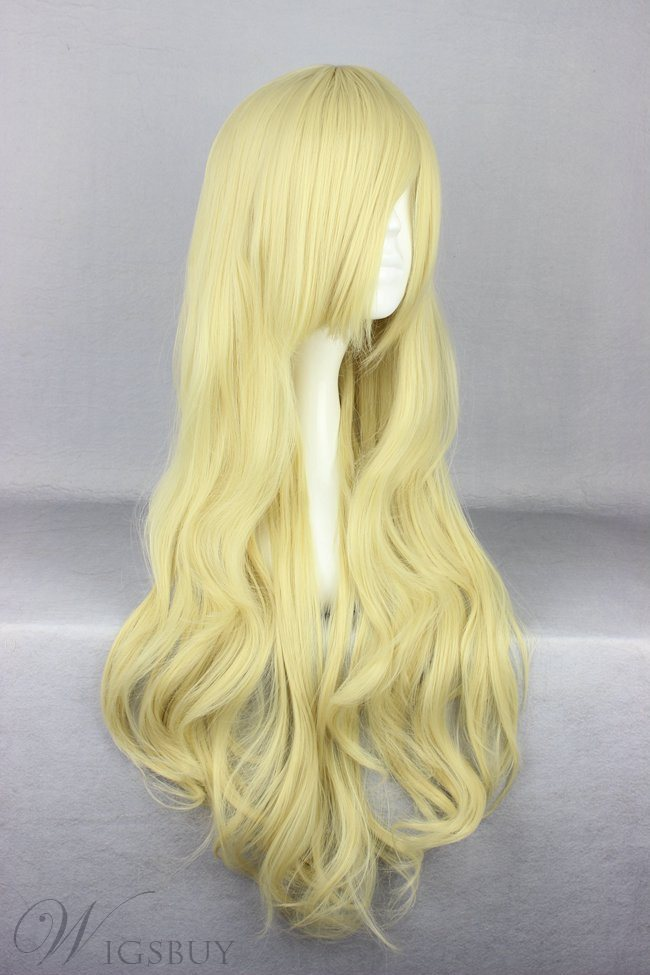 Japanese Lolita Style Light Yellow Color Cosplay Wigs 28 Inches
