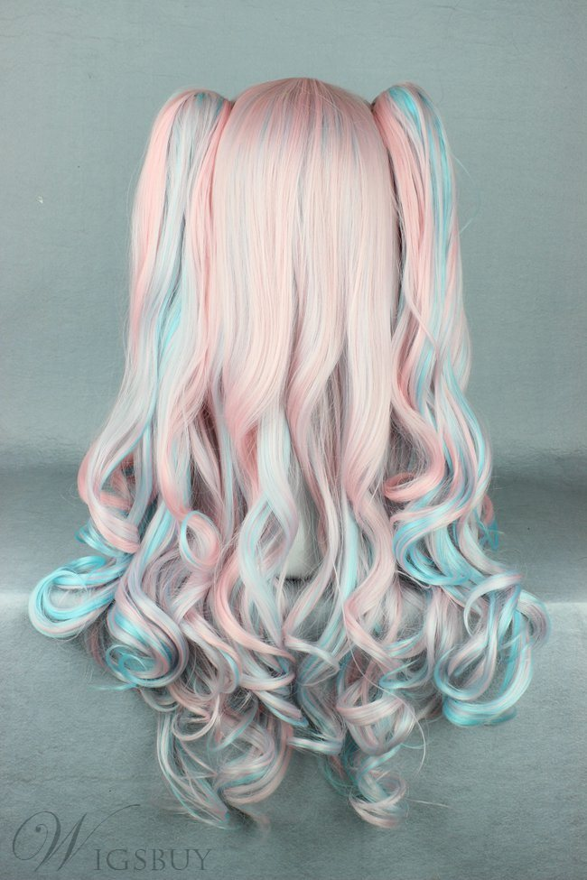 Pretty Lovely Long Deep Wave Mixed Color Cosplay Wig 26 Inches