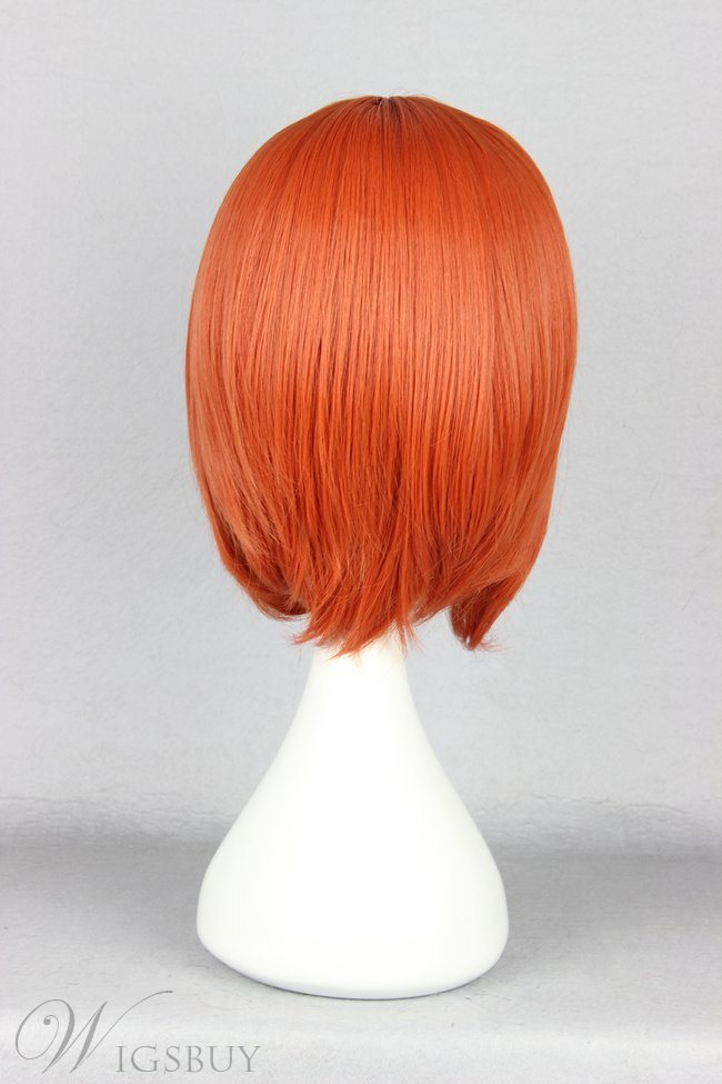 Nami Hairstyle Short Straight Jacinth Cosplay Wig 10 Inches