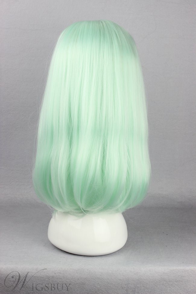 Japanese Lolita Style Middle Straight Light Green Color