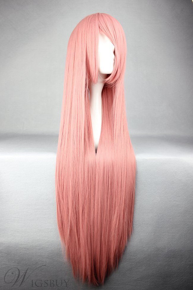 Ruka Hairstyle Long Straight Pink Cosplay Wig 30 Inches