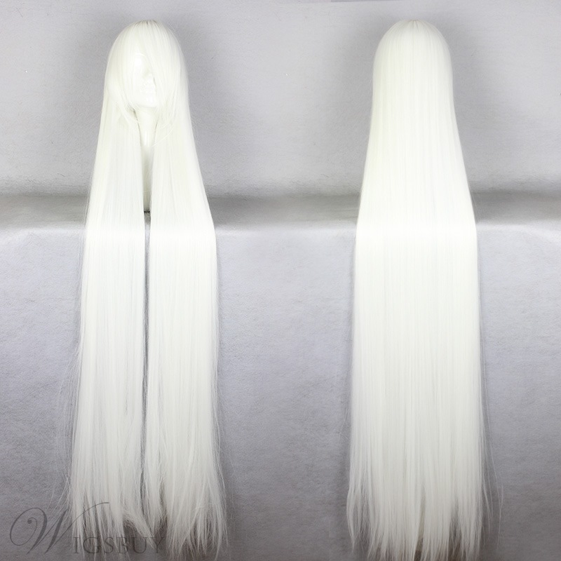 Japanese Chobits Series Long Straight White Color Cosplay