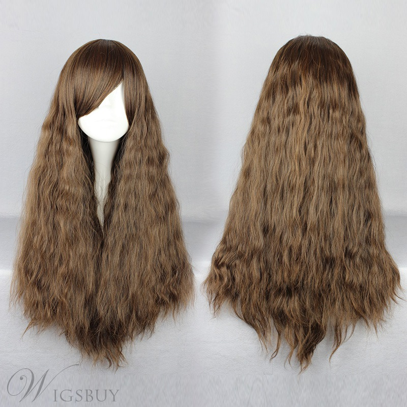 Japanese Lolita Style Brown Color Cosplay Wigs 28 Inches