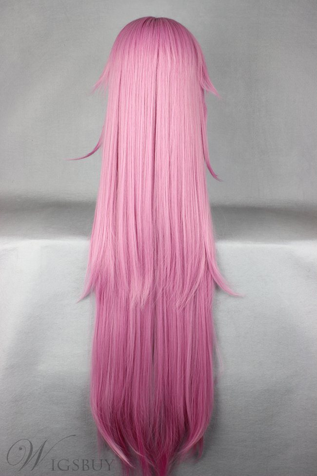 Pretty Pink Straight Super Long Synthetic Hair Cosplay Wigs 42 Inches