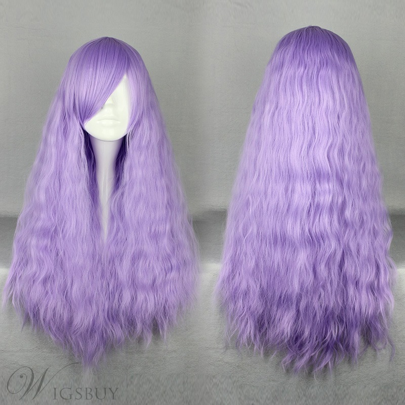Japanese Lolita Style Light Purple Color Cosplay Wigs 28