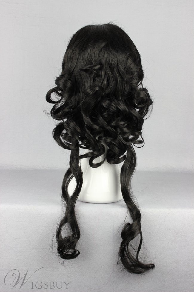 Japanese Lolita Style Black Color Cosplay Wigs 26 Inches
