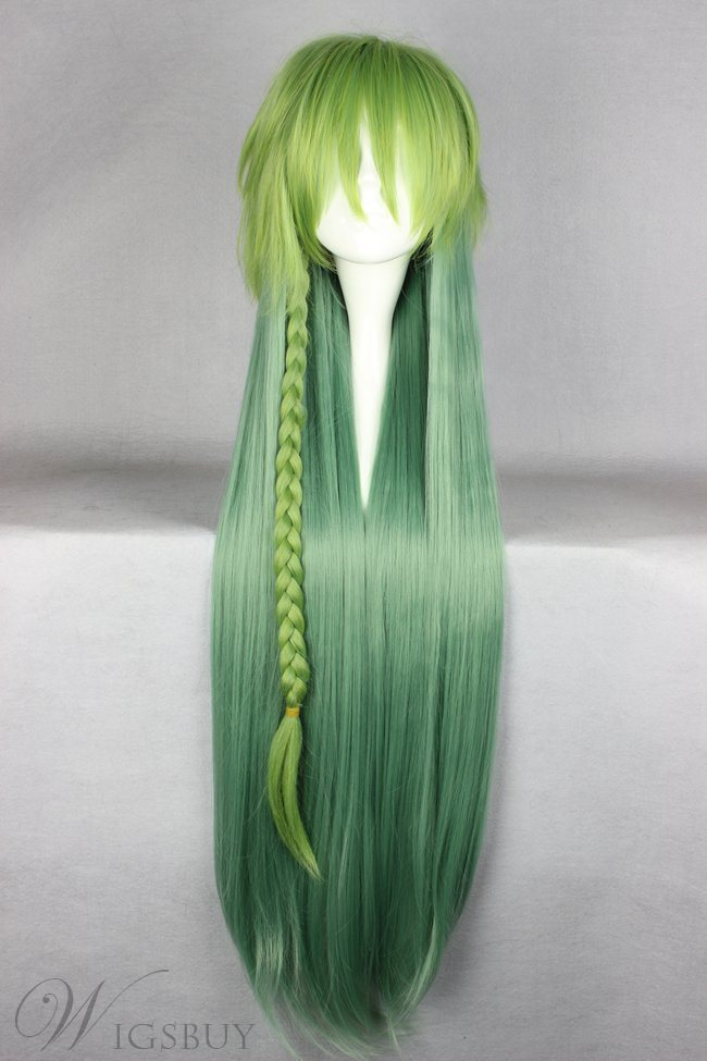 Ukyo Hairstyle Long Straight Gradient Cosplay Wig 30 Inches