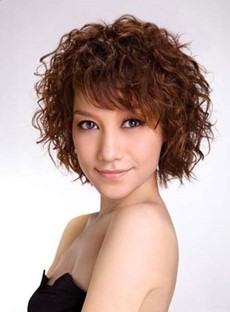 Youthful Short Curly Synthetic Capless Wig 10 Inches