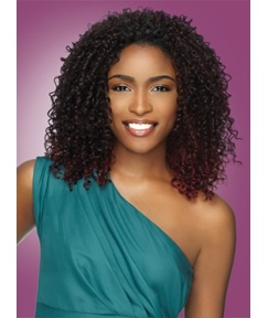 Middle Curly Synthetic Hair Lace Front Wig 150% Density 14 Inches for Black Women