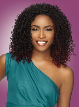 Classic Middle Curly Top Quality Synthetic Hair Lace Front Wig 150% Density 14 Inches for Black Women