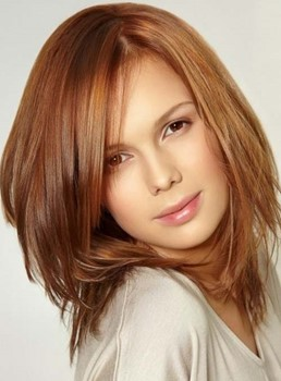 Youthful Glamorous Medium Straight Lace Front Human Hair Wig 12 Inches