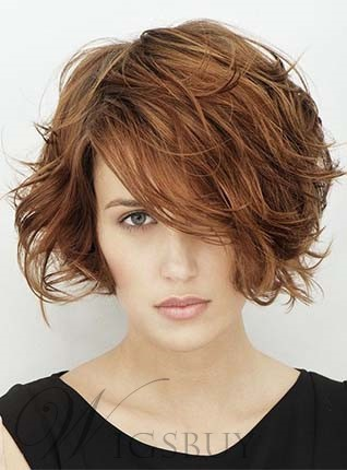 New Arrival Short Wavy Synthetic Capless Wig 8 Inches