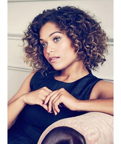 Elegant Fashionable Short Curly Lace Front Synthetic Wigs 12 Inches