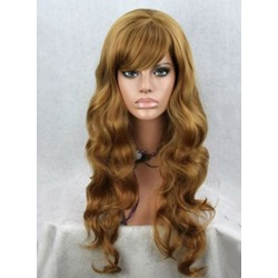 Top Quality Long Loose Wave with Full Bang Synthetic Wigs 22 Inches