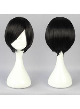 Hatsukoi Hairstyle Short Straight Black Cosplay Wig 10 Inches