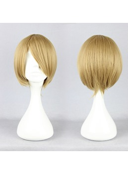 Prince of Tennis Hairstyle Short Straight Linen Cosplay Wig 10 Inches