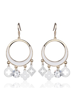 Fashion Circle Eardrop Earrings