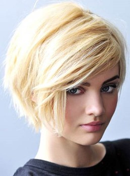 Attractive Stylish Short Straight Capless Human Hair Wig