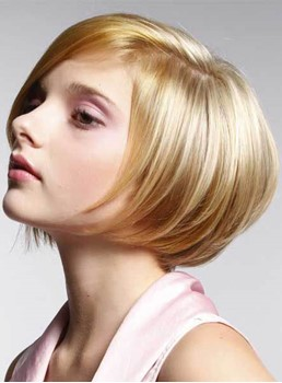 Chic Short Straight Monofilament Top Synthetic Wig