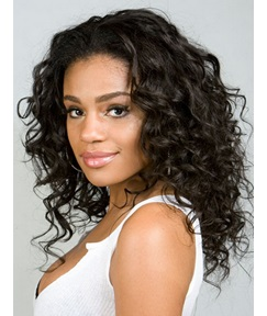 Kinky Curly Synthetic Lace Front Wigs for Black Women