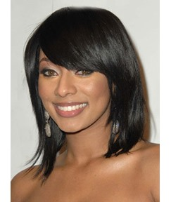 New Arrival Classic Medium Straight Capless 100% Human Hair Wig 12 Inches