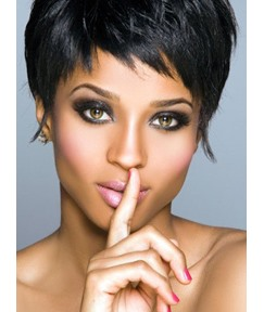 Smart Elegant Short Straight Bob Hairstyle 100% Human Hair Full Lace Wigs